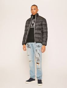 ARMANI EXCHANGE HOUNDSTOOTH LOGO TURTLENECK Pullover Man d