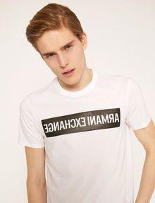 ARMANI EXCHANGE SLIM-FIT REVERSED LOGO CREW Logo T-shirt Man a