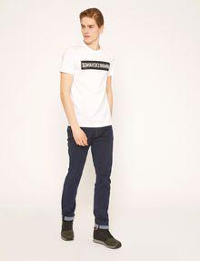 ARMANI EXCHANGE SLIM-FIT REVERSED LOGO CREW Logo T-shirt Man d