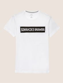 ARMANI EXCHANGE SLIM-FIT REVERSED LOGO CREW Logo T-shirt Man r