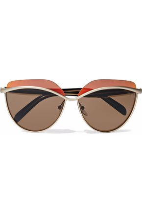 EMILIO PUCCI D-frame acetate and gold-tone sunglasses