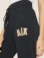 ARMANI EXCHANGE METALLIC APPLIQUE SWEATPANT Fleece Trouser Woman b