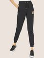 ARMANI EXCHANGE METALLIC APPLIQUE SWEATPANT Fleece Trouser Woman f