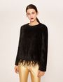 ARMANI EXCHANGE FEATHER HEM FUZZY SWEATER Crew Neck [*** pickupInStoreShipping_info ***] f