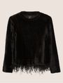 ARMANI EXCHANGE FEATHER HEM FUZZY SWEATER Crew Neck [*** pickupInStoreShipping_info ***] r