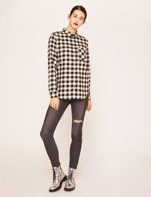ARMANI EXCHANGE CONTRAST POCKET FLANNEL SHIRT S/L Knit Top Woman d
