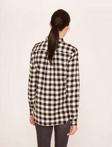 ARMANI EXCHANGE CONTRAST POCKET FLANNEL SHIRT S/L Knit Top Woman e