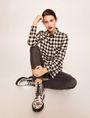 ARMANI EXCHANGE CONTRAST POCKET FLANNEL SHIRT S/L Knit Top Woman a