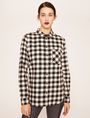 ARMANI EXCHANGE CONTRAST POCKET FLANNEL SHIRT S/L Knit Top Woman f