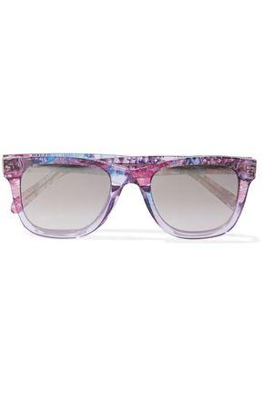 EMILIO PUCCI D-frame printed acetate sunglasses