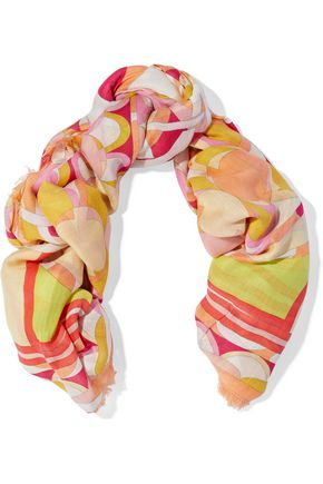 EMILIO PUCCI Printed modal and cashmere-blend twill scarf