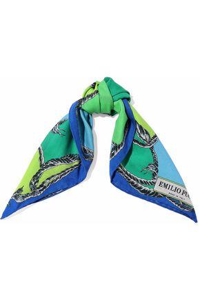 EMILIO PUCCI Printed cotton-voile scarf