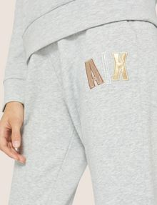 ARMANI EXCHANGE METALLIC APPLIQUE SWEATPANT Fleece Pant Woman b