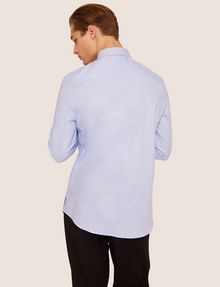 ARMANI EXCHANGE REGULAR-FIT SLICED LOGO OXFORD Plain Shirt [*** pickupInStoreShippingNotGuaranteed_info ***] e
