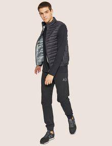 ARMANI EXCHANGE METALLIC STRIPE LOGO SWEATPANT Fleece Trouser Man d