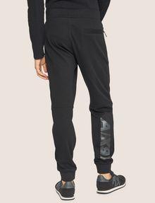 ARMANI EXCHANGE METALLIC STRIPE LOGO SWEATPANT Fleece Trouser Man e