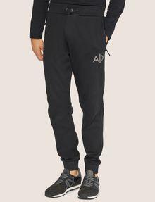 ARMANI EXCHANGE METALLIC STRIPE LOGO SWEATPANT Fleece Trouser Man f