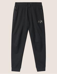 ARMANI EXCHANGE METALLIC STRIPE LOGO SWEATPANT Fleece Trouser Man r