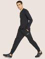 ARMANI EXCHANGE METALLIC STRIPE LOGO SWEATPANT Fleece Trouser Man a