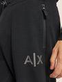 ARMANI EXCHANGE METALLIC STRIPE LOGO SWEATPANT Fleece Trouser Man b