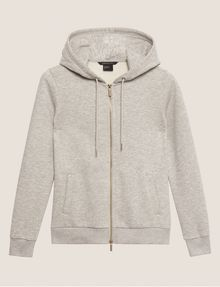 ARMANI EXCHANGE METALLIC APPLIQUE ZIP-UP HOODIE Sweatshirt Woman r