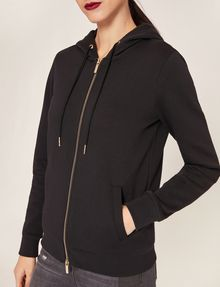 ARMANI EXCHANGE METALLIC APPLIQUE ZIP-UP HOODIE Sweatshirt Woman b