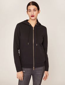 ARMANI EXCHANGE METALLIC APPLIQUE ZIP-UP HOODIE Sweatshirt Woman f
