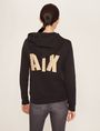 ARMANI EXCHANGE METALLIC APPLIQUE ZIP-UP HOODIE Sweatshirt Woman e