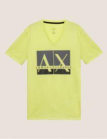 ARMANI EXCHANGE SLIM-FIT CLASSIC BOXED LOGO V-NECK Logo T-shirt Man r