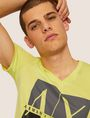 ARMANI EXCHANGE SLIM-FIT CLASSIC BOXED LOGO V-NECK Logo T-shirt Man a