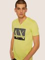 ARMANI EXCHANGE SLIM-FIT CLASSIC BOXED LOGO V-NECK Logo T-shirt Man f