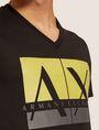 ARMANI EXCHANGE SLIM-FIT CLASSIC BOXED LOGO V-NECK Logo T-shirt Man b