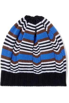 MISSONI Striped wool-blend beanie