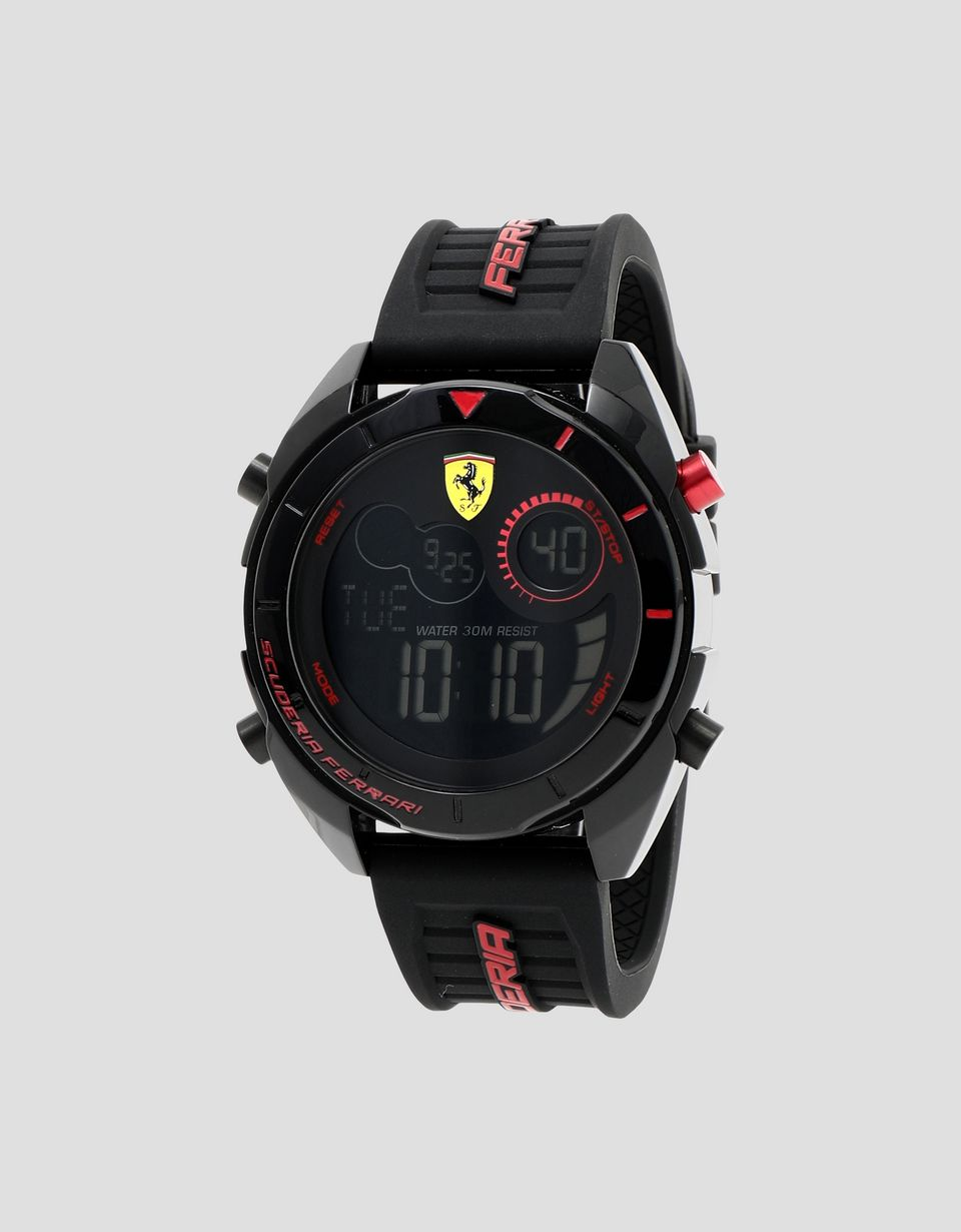 Scuderia Ferrari Online Store - Forza digital watch in black - Quartz Watches