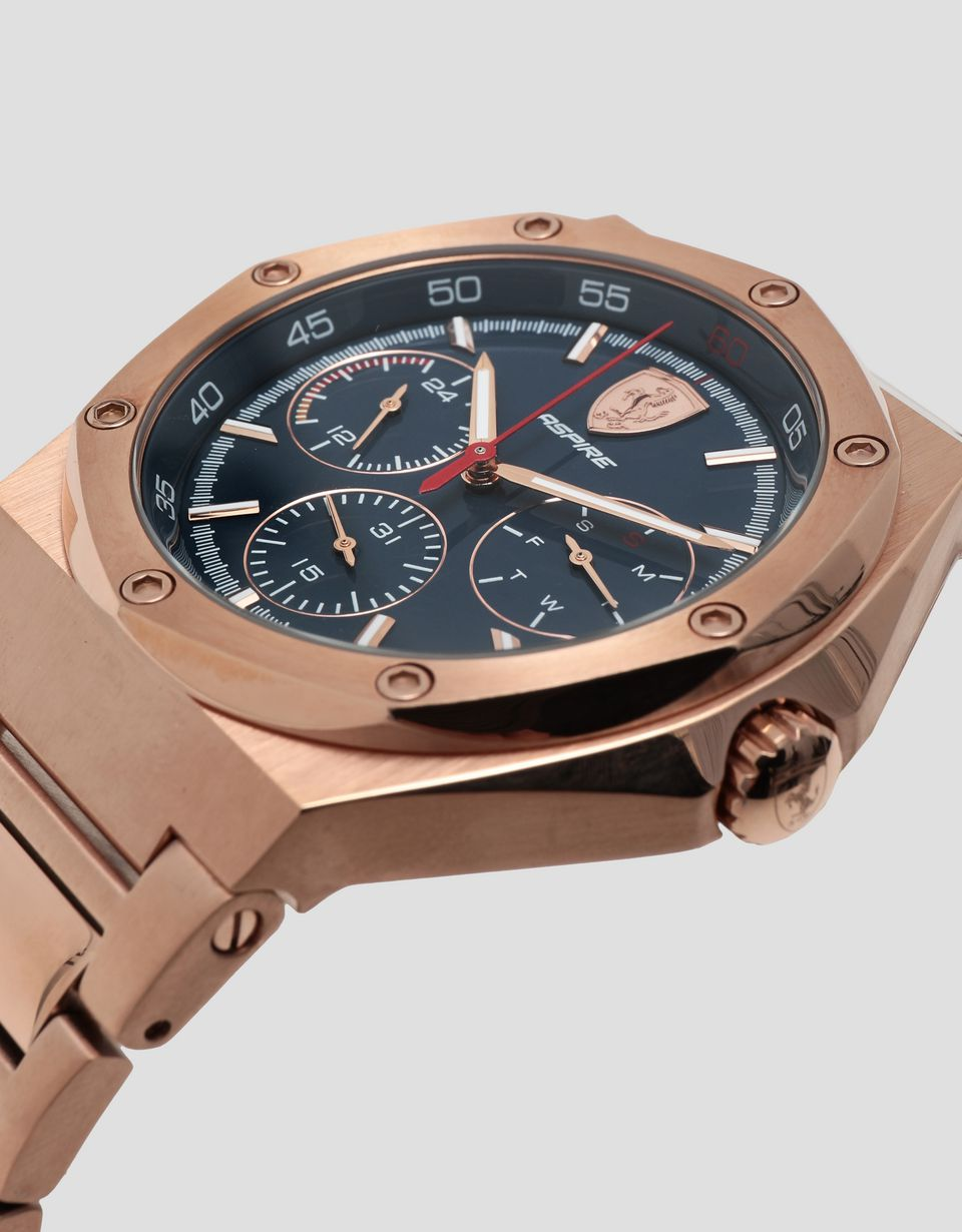 Scuderia Ferrari Online Store - Aspire multifunctional watch in rose gold tone - Chrono Watches