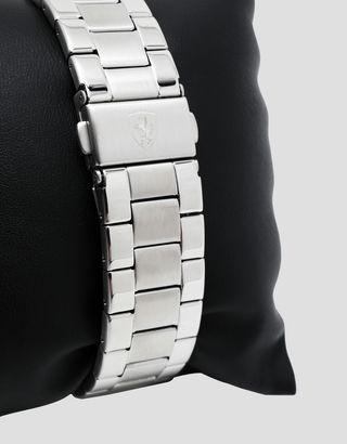 Scuderia Ferrari Online Store - Стальные наручные часы Pilota с синим циферблатом - Кварцевые часы