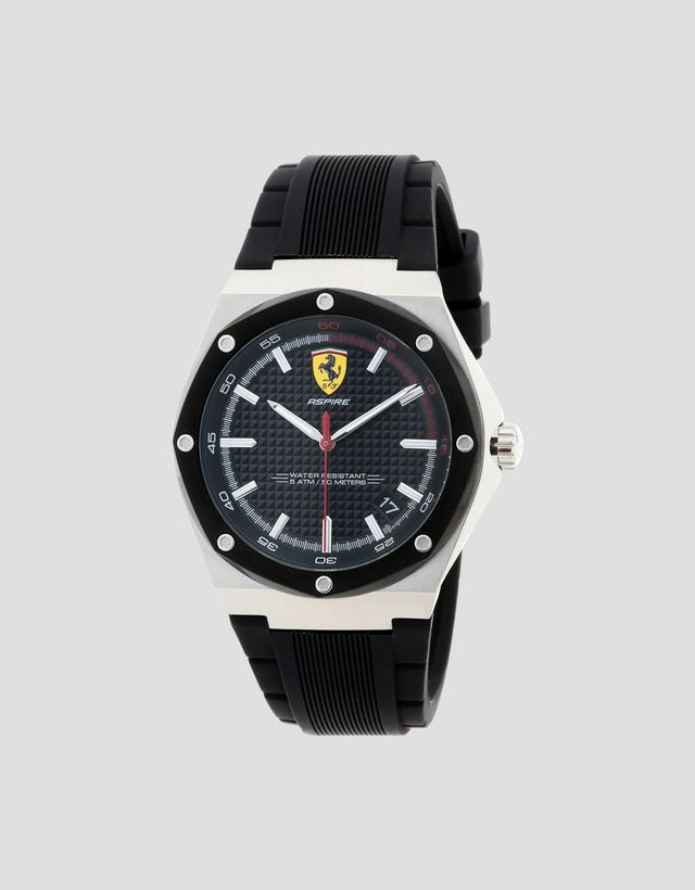 5334b5e9a3 Scuderia Ferrari Online Store - Aspire watch with black dial and strap -  Quartz Watches ...