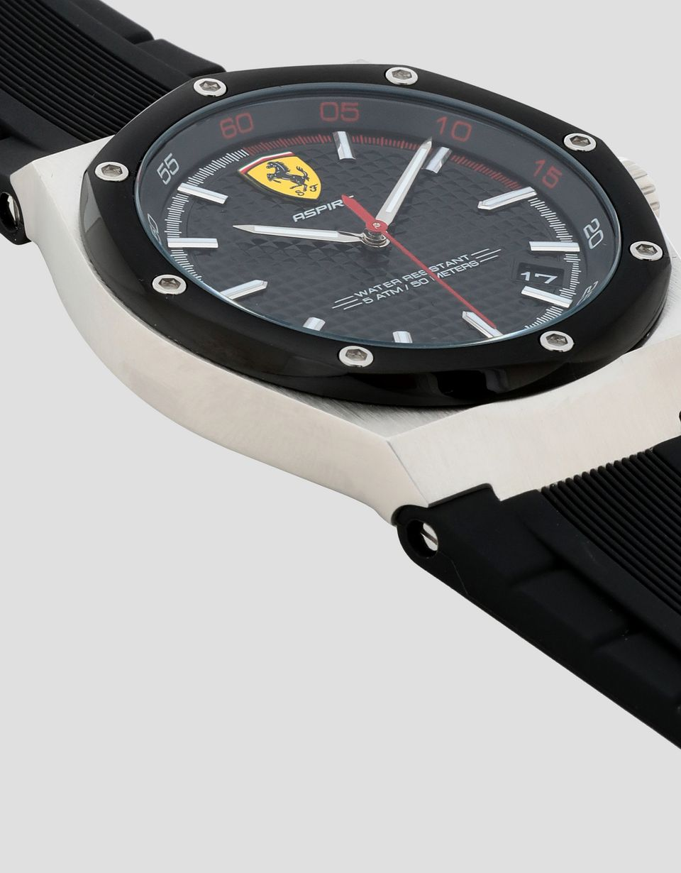 Scuderia Ferrari Online Store - Aspire watch with black dial and strap -