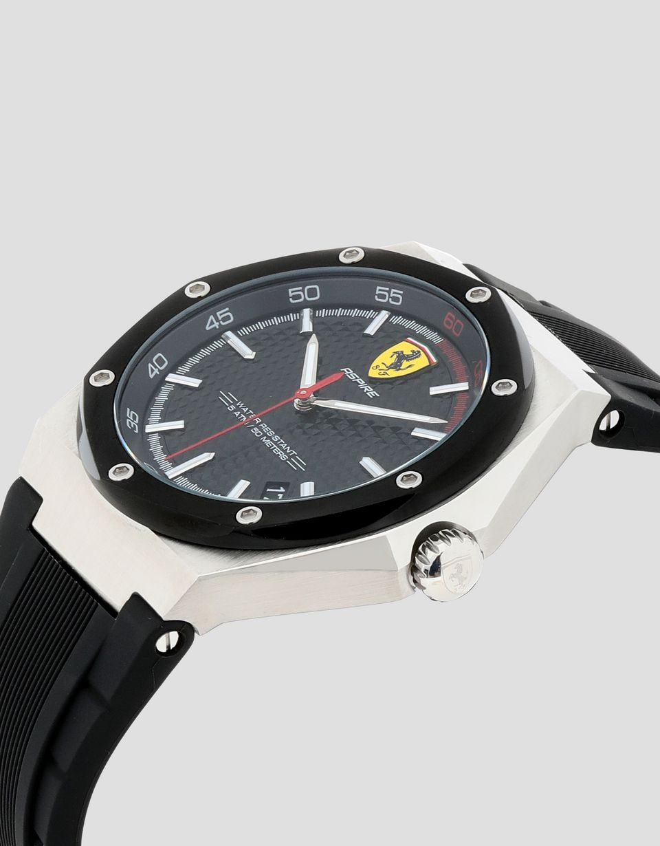 Scuderia Ferrari Online Store - Aspire watch with black dial and strap - Quartz Watches
