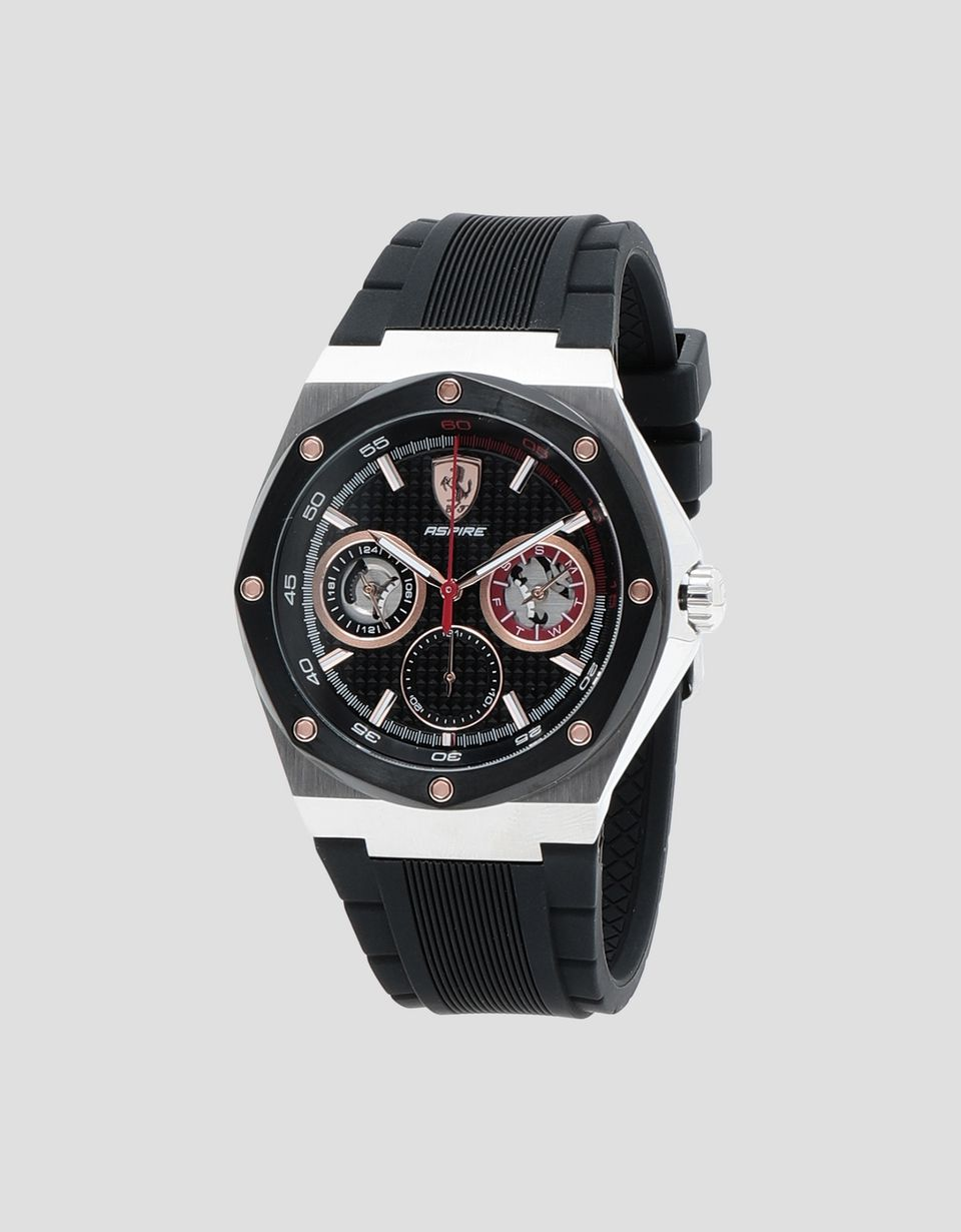 Scuderia Ferrari Online Store - Aspire multifunctional watch with rose gold tone detailing - Quartz Watches