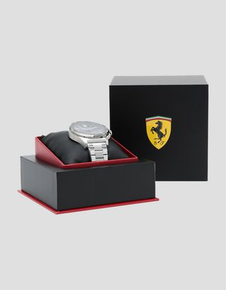 Scuderia Ferrari Online Store - Pilota steel watch with grey dial - Quartz Watches