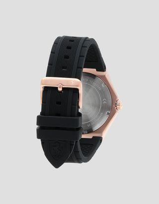 Scuderia Ferrari Online Store - Наручные часы Aspire цвета розового золота с чёрным циферблатом - Кварцевые часы
