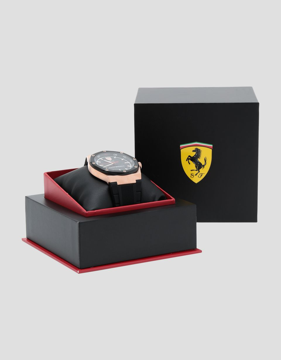 Scuderia Ferrari Online Store - Aspire watch in rose gold tone with black dial - Quartz Watches