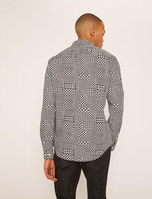 ARMANI EXCHANGE REGULAR-FIT MULTI HOUNDSTOOTH SHIRT Long sleeve shirt Man e