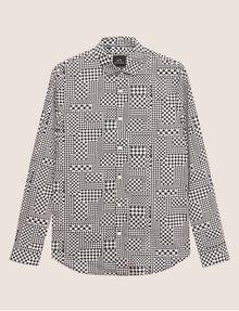 ARMANI EXCHANGE REGULAR-FIT MULTI HOUNDSTOOTH SHIRT Long sleeve shirt Man r