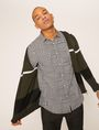 ARMANI EXCHANGE REGULAR-FIT MULTI HOUNDSTOOTH SHIRT Long sleeve shirt Man a