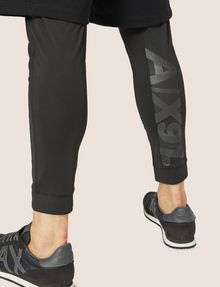 ARMANI EXCHANGE METALLIC STRIPE LOGO LAYERED LEGGING SHORT Jogger [*** pickupInStoreShippingNotGuaranteed_info ***] b