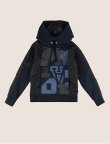 ARMANI EXCHANGE BOYS COLLEGIATE LETTER LOGO HOODIE Pullover [*** pickupInStoreShippingNotGuaranteed_info ***] f