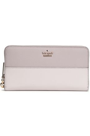 KATE SPADE New York Two-tone textured-leather continental wallet