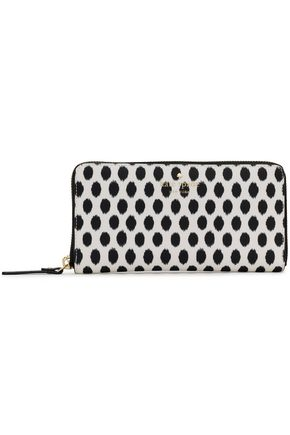 KATE SPADE New York Printed faux textured-leather continental wallet